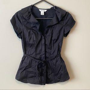 White House Black Market Short Sleeve Blouse Size 0
